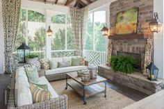 Portfolio | The Porch CompanyThe Porch Company Simple rug, drapery panels?, matching lanterns seperated