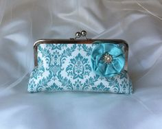 THE DAMASK CLUTCH  Bridesmaid Clutches by franklymydearvintage
