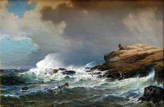 Mauritz Frederick Hendrik De Haas ~ After A Storm Seascape Paintings, Landscape Paintings, Watercolor Paintings, Ship Paintings, Sea Art, Traditional Paintings, Watercolor Landscape, Painting & Drawing, Painting Inspiration