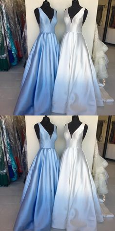 Charming Prom Dress, A Line Evening Dress, Sleeveless Long Prom Dresses, Formal Dress P1124 #promdresses #longpromdress #2018promdresses #fashionpromdresses #charmingpromdresses #2018newstyles #fashions #styles #hiprom #prom #blueprom