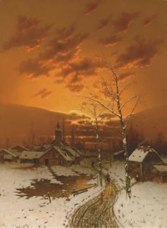 "Johann Jungblut ""The colourful sunset in winter"""