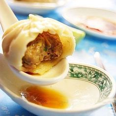 """Chinese steamed bun also called """"Baozi"""" is an ancient Han pasta, a kind of fermented food, which does good to health. Steamed Buns, Fermented Foods, Pudding, Dishes, Dining, Breakfast, Desserts, Kitchens, Morning Coffee"""