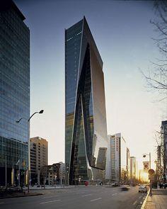 KPF 설계작 - 풍경-도시 갤러리 Big Building, Tower Building, High Rise Building, Building Structure, Building Design, Office Building Architecture, Concept Architecture, Futuristic Architecture, Amazing Architecture