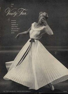 Vanity Fair lingerie advertisement, 1951. Photo by Mark Shaw.