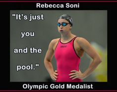"""Rebecca Soni Olympic Champion Swimmer Photo Quote Mini Poster Wall Art Print 8""""x11"""" It's Just You and the Pool - Free USA Shipping"""