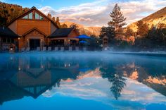 Steam Rises From This 100% Natural Hot Spring Pool