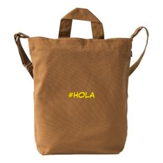 #HOLA DUCK CANVAS BAG
