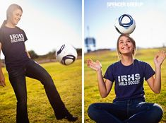 soccer girl senior pics... hmmmm, now, how many girlies do i know that will one day be taking these kinds of pictures?