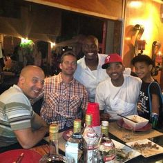 Will Smith, Vin Diesel, Paul Walker, Tyrese and Willow Smith