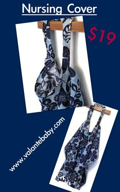 PIN NOW! Blue Floral Nursing Cover, Breastfeeding Nursing Cover, Floral Nursing Cover, Subtle Nursing Cover, New Mom, Baby Shower, VB0034