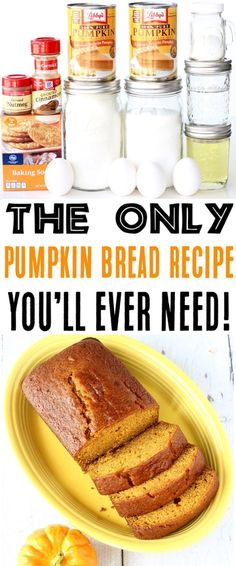 World's Best Pumpkin Bread Recipe! {Easy} - The Frugal Girls Best Pumpkin Bread Recipe, Pumpkin Puree Recipes, Pumpkin Loaf, Homemade Pumpkin Puree, Pureed Food Recipes, Baked Pumpkin, Cooking Recipes, Pumpkin Carving, Healthy Recipes
