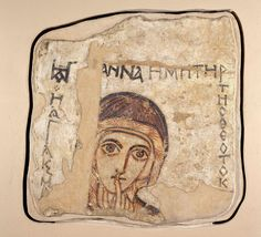 A wall painting of St Anne found at the Faras Cathedral within old Nubia in present-day Sudan, dated to the centuries. Now at the National museum of Warsaw. Early Christian, Christian Art, Tempera, Fresco, Santa Anna, Westerns, Oriental, Christian Paintings, Early Middle Ages