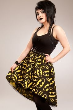 Poizen Industries Dark Night Dress why is this in this board because Andy Sixx <3's Batman B*****S (beoches)
