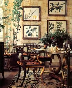 Lee Radziwill- Part 1 photos here | Mark D. Sikes. Her dining room