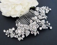Gold Wedding headpiece Gold Bridal hair comb от TheExquisiteBride