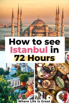 to spend 3 epic days in Istanbul - Where life is great How to Spend 3 days in Istanbul: Istanbul in 72 hours. Top Things To Do in Istanbul, Turkey. This is my 3 Day Guide to Istanbul to see the best of the city! Voyage Europe, Europe Travel Guide, Asia Travel, Budget Travel, Cruise Travel, Travel Packing, Solo Travel, Travel Guides, Turkey Europe