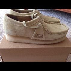 ed1d82ba3c7946 Women s Clarks Wallabees Size never worn maple suede leather. They are  brand new and in perfect condition Clarks Shoes