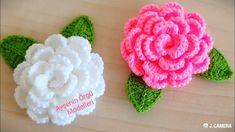 Crochet Flower Tutorial, Rose Tutorial, Crochet Instructions, Crochet Flower Patterns, Baby Knitting Patterns, Easy Crochet, Yarn Flowers, Knitted Flowers, Hand Embroidery Videos