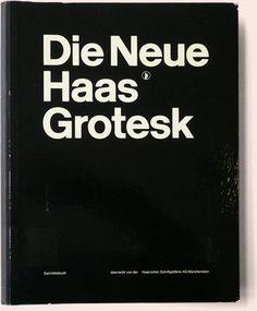 "Haas'che Schriftgiessersi AG ""Die Neue Haas Grotesk"" Typeface Pattern Manual designed by Josef Müller-Brockmann, 1962"