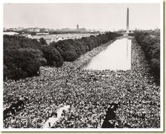 Reflection Pool during MLK's speech