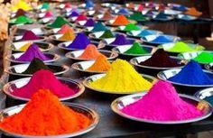 colours Holi Powder, Yoga Retreat, Portugal, Spain, Display, Decoration, Places, Happy, Nature