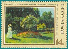 stamps with Monet pictures - Google Search
