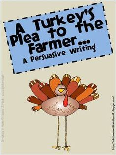 {freebie} adorable turkey persuasive writing!