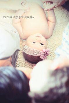 New baby photo idea