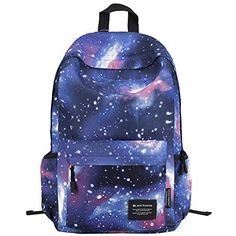 HotStyle Fashion Printed TrendyMax Galaxy Pattern Backpack Cute for School - Green