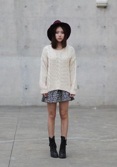 Japanese style hat to top off a cute casual outfit