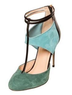 50 Dream Fall Shoes : Lucky Magazine-suede with 2 tone and ankle strap