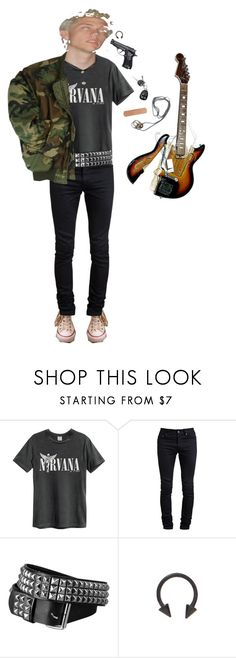 """""""x head tr!pp x"""" by trashpunk ❤ liked on Polyvore featuring American Eagle Outfitters and Yves Saint Laurent"""