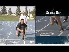 Dryland Off-Ice Hockey Training for Leg Strength-Skater Hop - YouTube