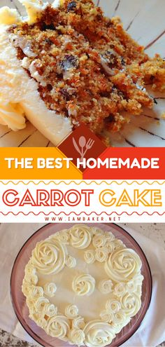 Homemade Carrot Cake Recipe with Cream Cheese Frosting is a homemade Easter treat for kids that's delightful and bursting with flavor! The texture is moist and exquisite and the frosting is amazingly sweet! It's the best Easter dessert!