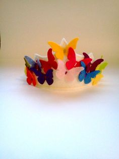 felt butterfly crown