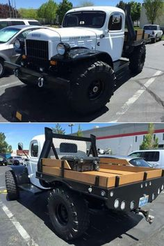 Classic White Dodge Power Wagon Flatbed | Andrew's Social Media