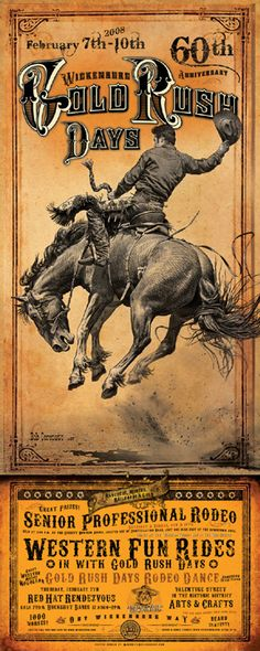 Flyer Goodness: Rodeo Posters by Bob Coronato