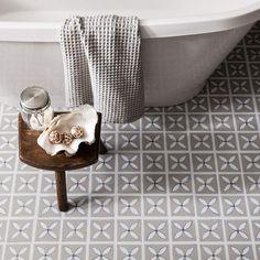 Pebble Grey designer flooring in a bathroom