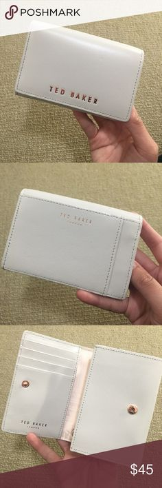 TED BAKER MANZINI TEXTURED SMALL PURSE- LIGHT GREY New, never used Ted Baker Other