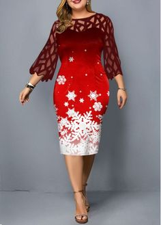 Cheap plus size dresses Plus size dresses online for sale Plus Size Holiday Dresses, Special Occasion Dresses, Plus Size Dresses, Dresses For Sale, Dresses Online, Unique Fashion, Womens Fashion, Calf Sleeve, Panel Dress