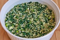 Kalyn's Kitchen®: Recipe for Spinach and Feta Casserole with Brown Rice and Parmesan
