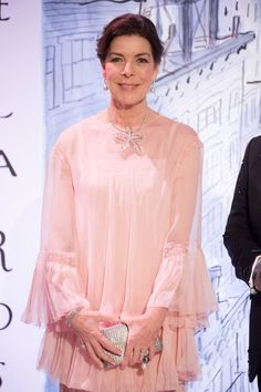 Princess Caroline Photos - Princess Caroline of Hanover arrives at the Rose Ball 2018 To Benefit The Princess Grace Foundation at Sporting Monte-Carlo on March 24, 2018 in Monte-Carlo, Monaco. - Rose Ball 2018 To Benefit The Princess Grace Foundation In Monaco