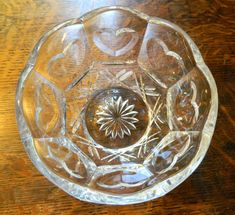 Glass Bowl with Scalloped Edges and Inset by GinasTreasureTrove, $25.00