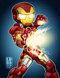 Lil Avengers -Iron Man by *lordmesa #avengers #Vengadores #Marvel comics . Pin and follow @Pyra2elcapo