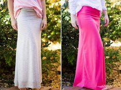 DIY Maxi Skirt with Yoga Waist Band - do it yourself divas
