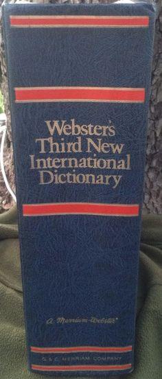 Webster's Third New International Dictionary 1976 Hardcover 0877791015   eBay