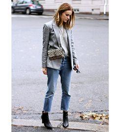 Sara Strand, On Sara: Mango blazer; Arnie Says sweater; Acne jeans; Hipsters For Sisters bag; Bianco boots.