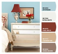 Chip It! by Sherwin-Williams – LOVE! - here's what I'm going for, blue with red accents