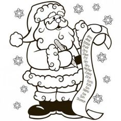the nice list coloring page free christmas recipes coloring pages for kids - Santa Coloring Pages Free