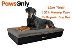 Extra Large Grey Premium Memory Foam Dog Bed